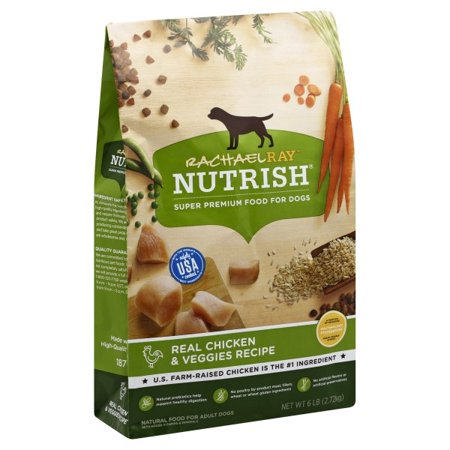 Rachael Ray Nutrish Natural Dry Dog Food, Real Chicken & Veggies Recipe, 6