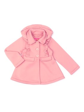 Pink Platinum Ruffled fleece hooded jacket (little girls & big girls)