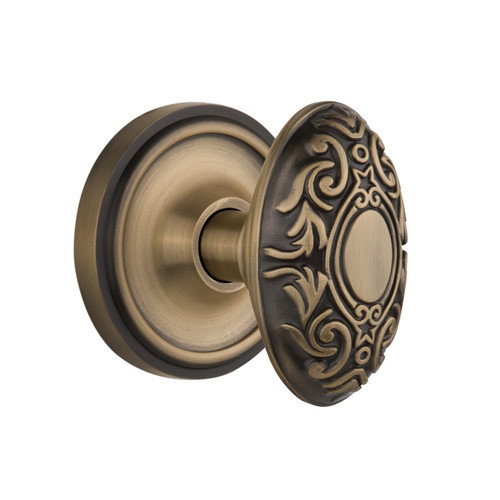 Nostalgic Warehouse Victorian Double Dummy Door Knob with Classic Rosette