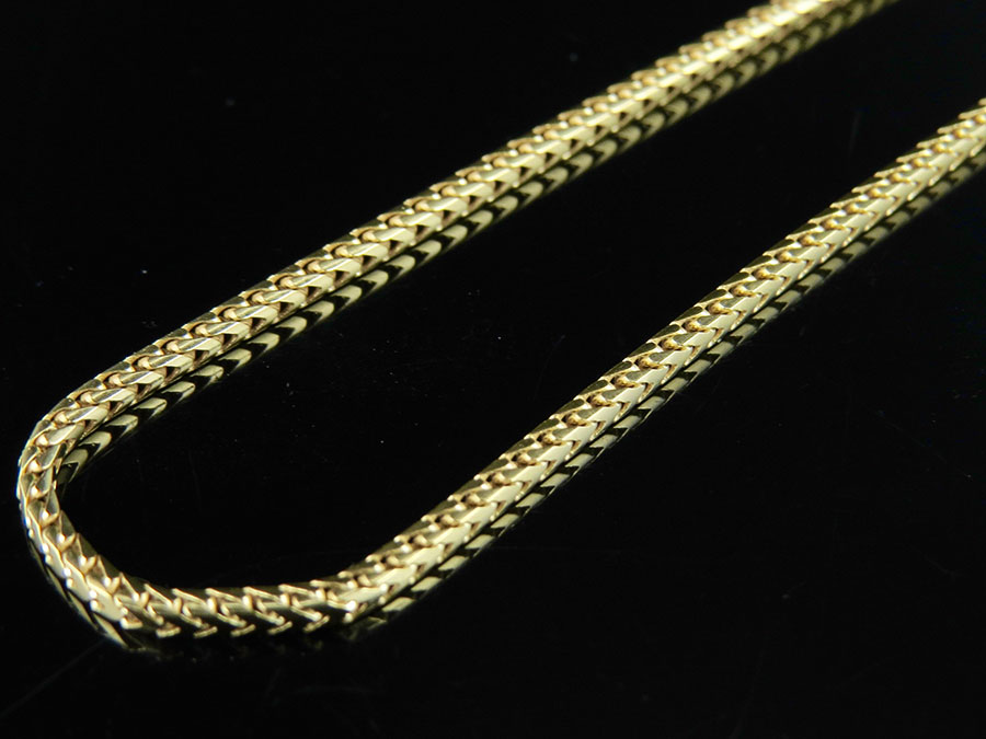 10k Gold Necklace Solid Franco Chain 16-20 Inches 1.0 MM