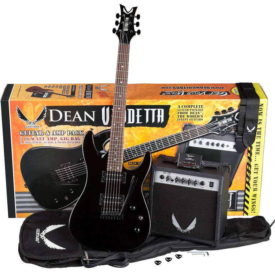 Dean Vendetta XM Tremolo Pack, MBK with Amp