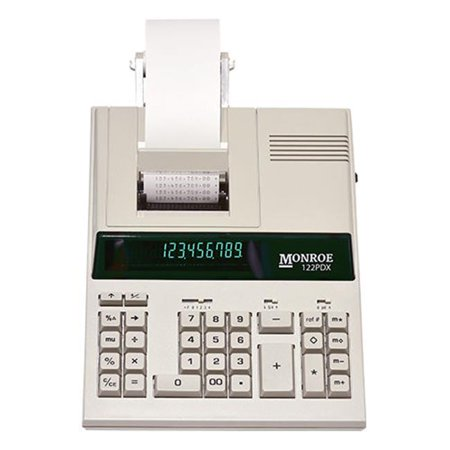Monroe Systems 122PDX Printing Calculator and Adding Machine for Accounting, Finance and Business / Medium Duty