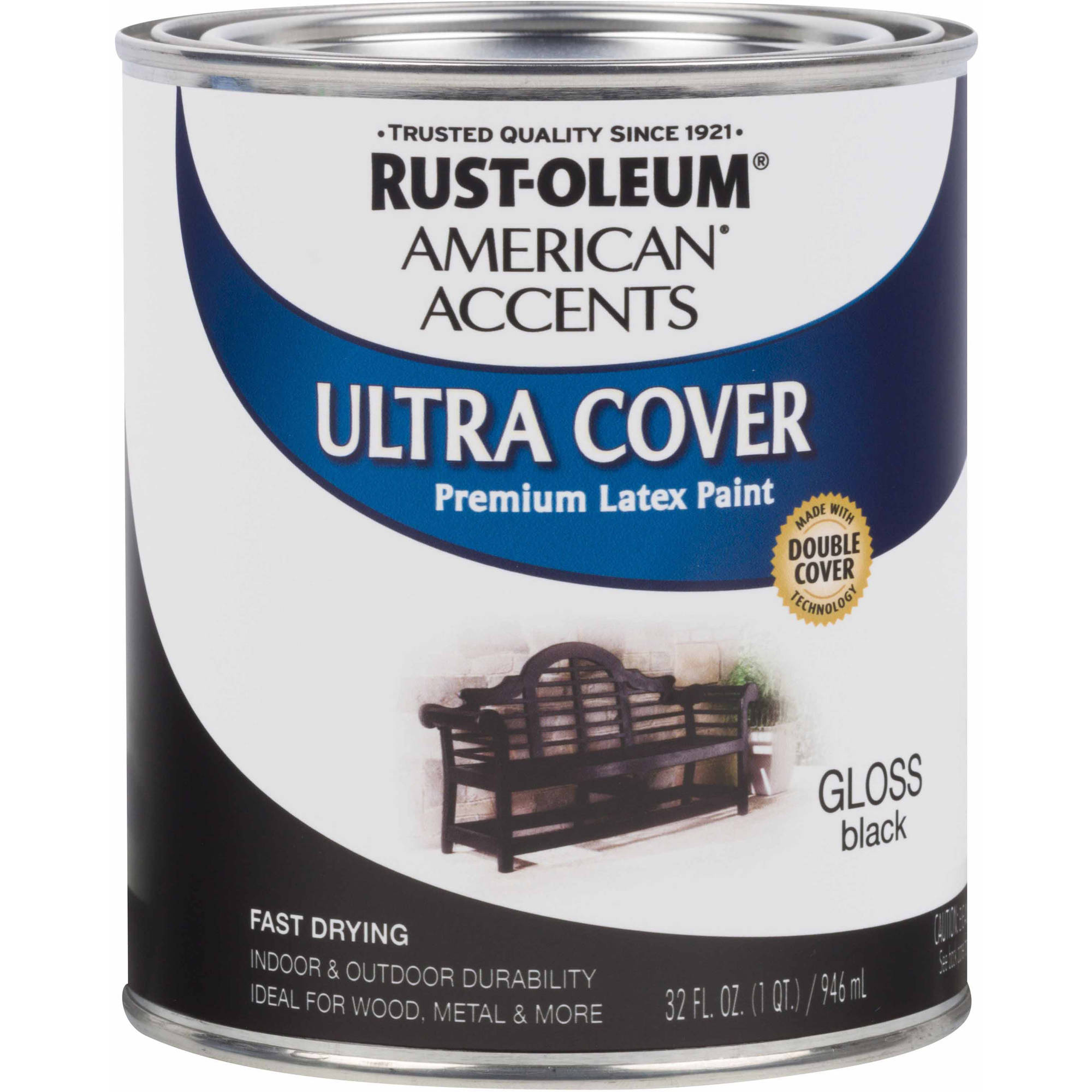 Rust-Oleum American Accents Ultra Cover Quart, Gloss Black