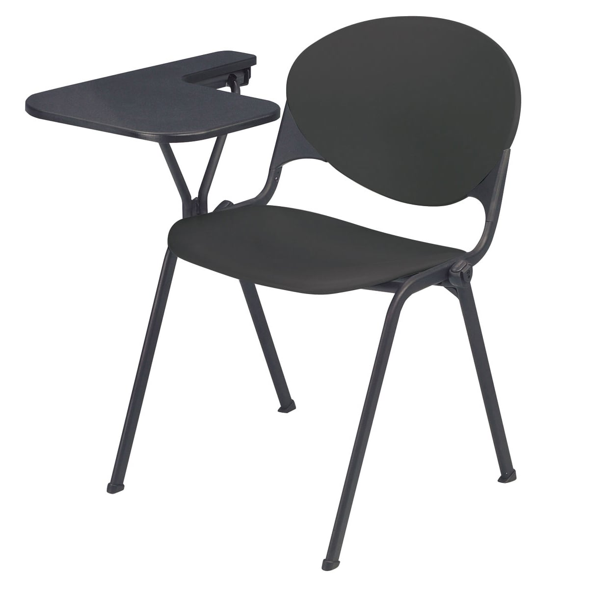 KFI Polypropylene Stacking School Chair with Right Writing Tablet