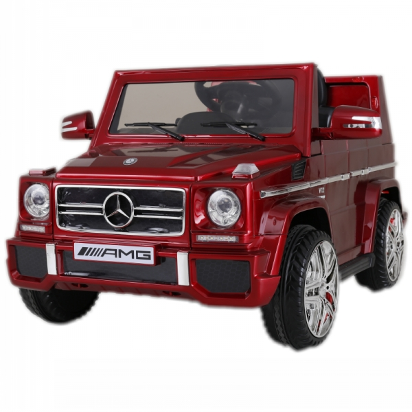 12V powered Mercedes AMG G65 Ride on electric car For Kids with Remote Control LED lights MP3 Leather Seat - Red