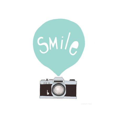 Smile Camera Teenager Kids Artwork Type Typography Illustration Print Wall Art By Seventy