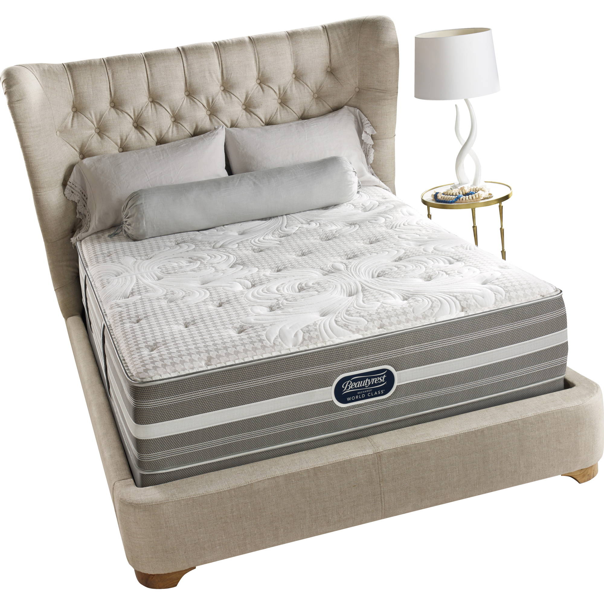 "Beautyrest Recharge World Class Duomo 14.5"" Plush Mattress, Multiple Sizes"
