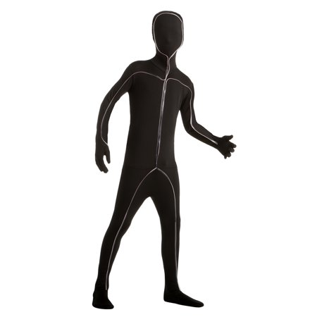 Men Light Up Stick Figure Bodysuit Small Halloween Dress Up / Role Play Costume