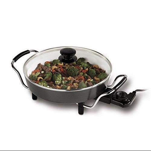 "Oster DuraCeramic Round Electric Skillet - 12"" White"
