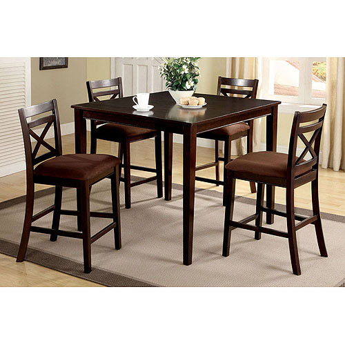 Venetian 5-Piece Weston I Counter Height Dining Room Set, Espresso by Furniture of America