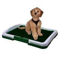 """Dog Puppy Indoor Potty Pad Rug Training Grass Patch Toilet Mat Tray 18""""x13.5"""""""