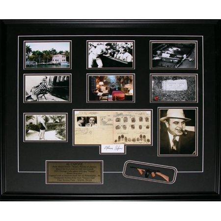 Al Capone Chicago Gangster Tommy Gun Reproduction Signature 6 Photo Frame - image 1 de 1