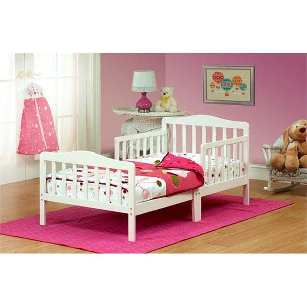 Solid Wood White Toddler Bed Walmart Com Walmart Com