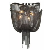 Avenue Lighting Mullholand Dr. 4 Light 20 inch Black Chrome Jewelry Chain Flush Mount Ceiling Light