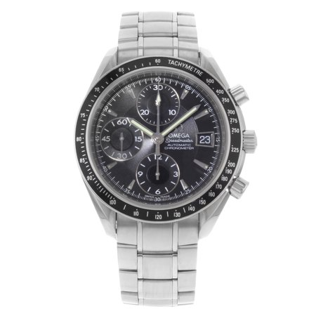Pre-Owned Omega Speedmaster 3210.50.00 Black on Black Steel Automatic Mens Watch