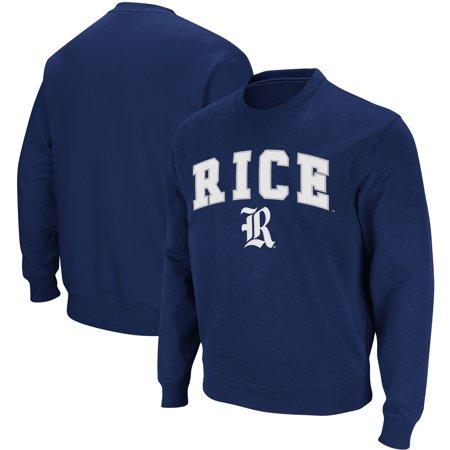 Rice Owls Stadium Athletic Arch & Logo Crew Neck Sweatshirt - Navy - XL