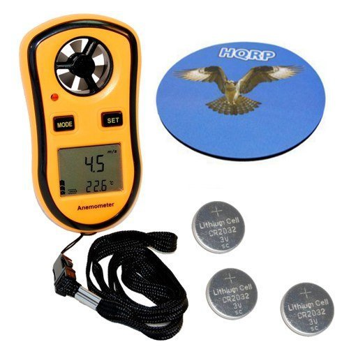 HQRP Handheld Weather Station Digital Pocket Anemometer Beaufort Wind Scale Thermometer &... by Anemometers
