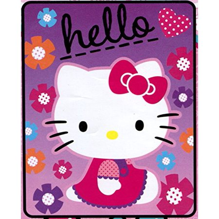 Hello Kitty Star Kitty Plush Fleece Throw Blanket - Soft, Warm and Comfortable