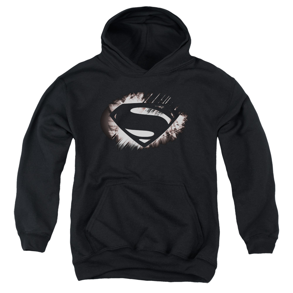 Man of Steel Superman Mos Shield Fracture Big Boys Pullover Hoodie