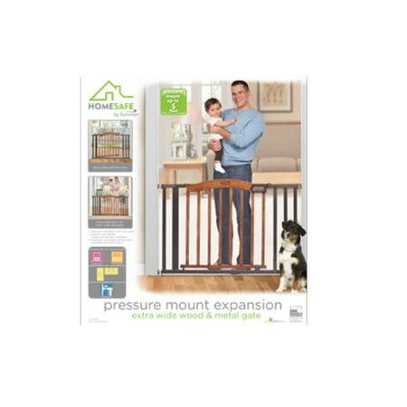 Pressure Mount Expansion Extra Wide Wood Metal Walk Thru Gate
