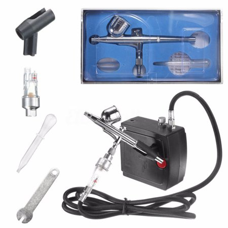 UBesGoo Dual-Action Airbrush Kit Mini Air Compressor Air Brush Set Spray Gun for Hobby, Art, Tattoo, Cake Decorating, Nail Beauty, Makeup, Painting,