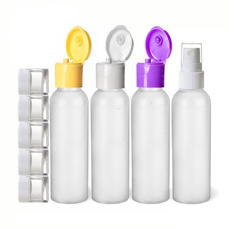2 Piece Jar - Moyo Natural Labs 9 Piece 2 Oz Premium HDPE travel bottle set and Travel Jars with Fine Mist Spray Bottle BPA Free Travel size bottle TSA Approved 2 oz travel Bottle Pack of 9 travel accessories