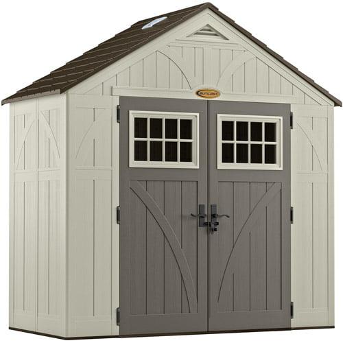 Suncast 206 cu. ft. Tremont® 8x4 Storage Shed, Vanilla, BMS8400D