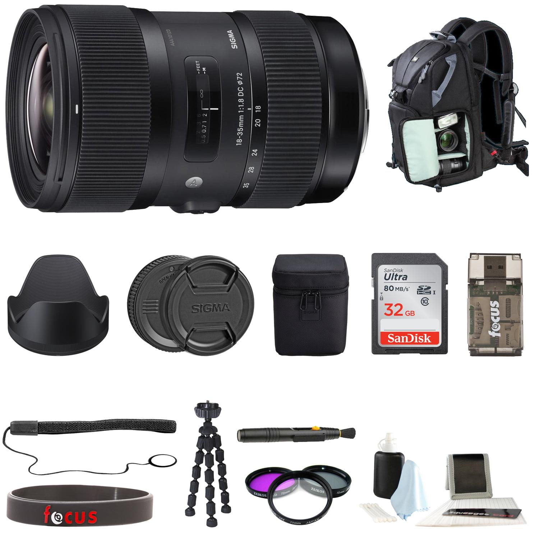 Sigma 18-35mm f/1.8 DC HSM Art Lens for Canon DSLR Cameras Bundle