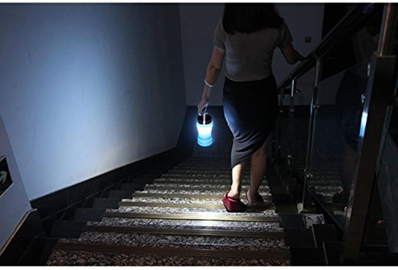 Firefly Blue Bell-Shaped Indestructible Silicone Solar Powered LED Emergency ./…