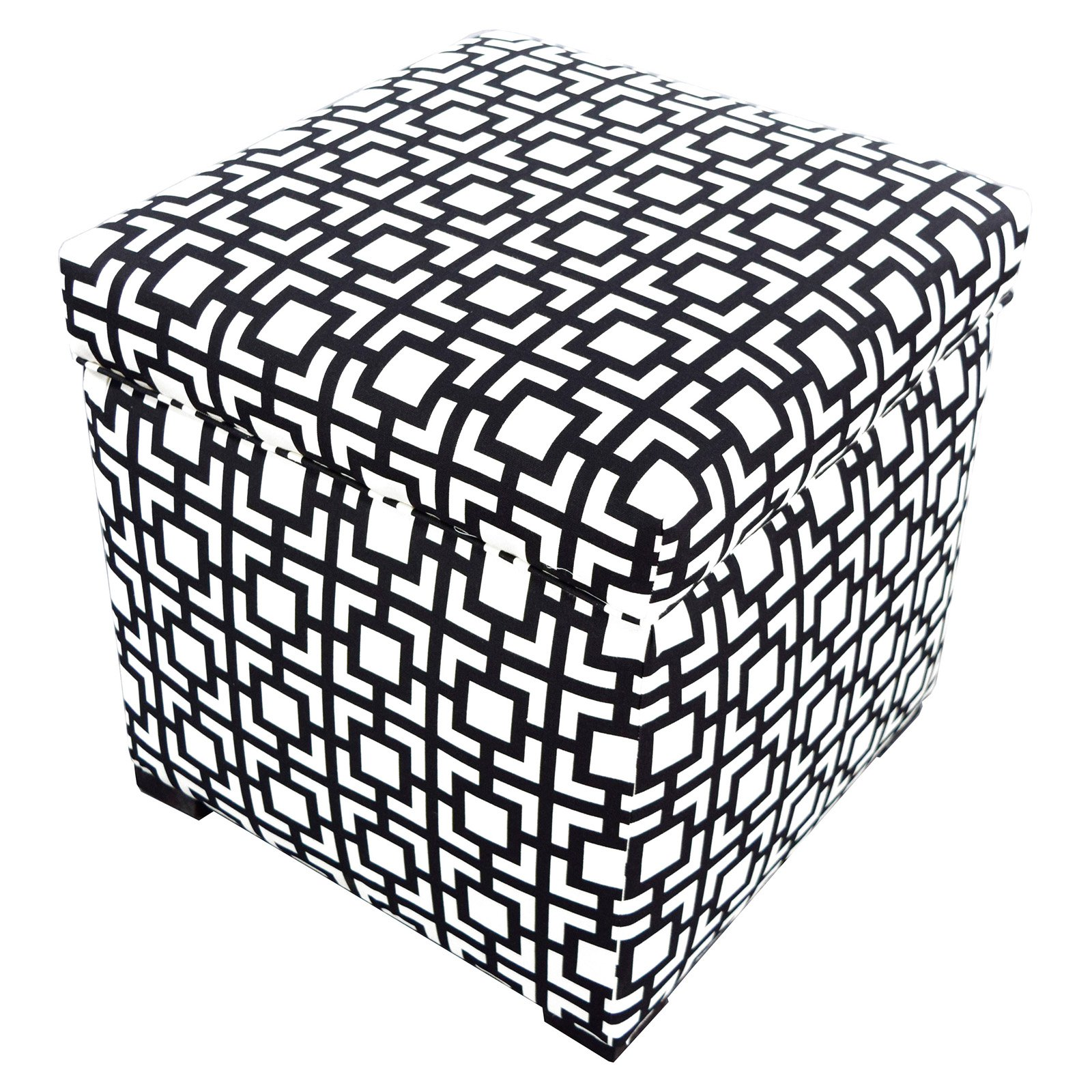 MJL Designs Sole Secret Geometric Storage Ottoman
