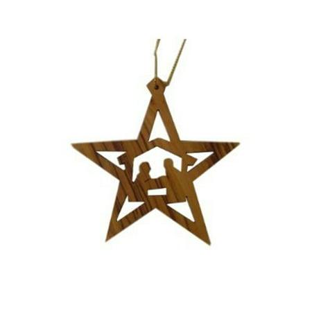 (Olive Wood Bethlehem Star Nativity Manger [Kitchen])