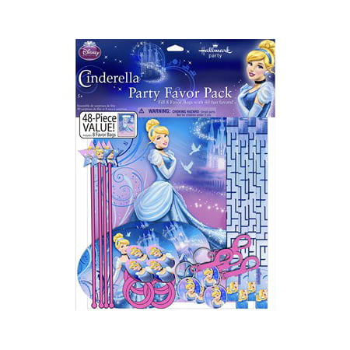 Disney Cinderella Sparkle Party Favor Value Pack (Cinderella Birthday)