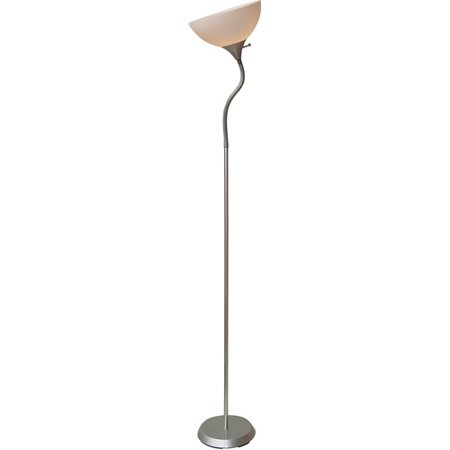 Mainstays 713939 jelly gooseneck floor lamp silver for Mainstays silver floor lamp