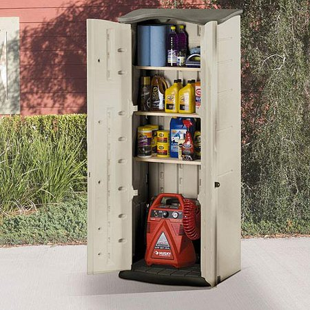 Rubbermaid 121 Gallon Vertical Storage Shed Walmart Com