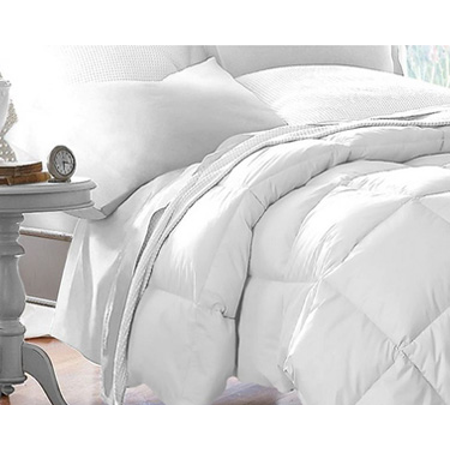 Microfiber Down Alternative Comforter (King) White