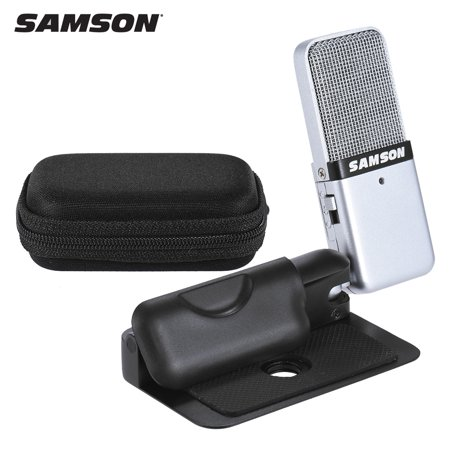 - Samson GO Mic Mini Portable Recording Condenser Microphone Clip-on Design with USB Cable Carrying Case for Computer NoteBook Tablet PC