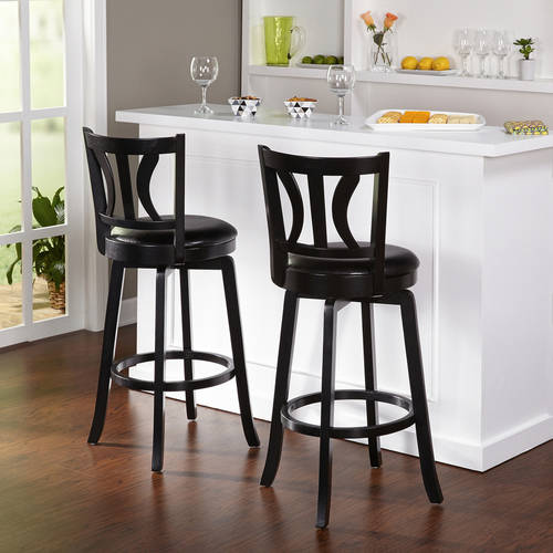 "Houston Swivel Barstool 30"", Set of 2, Multiple Finishes"