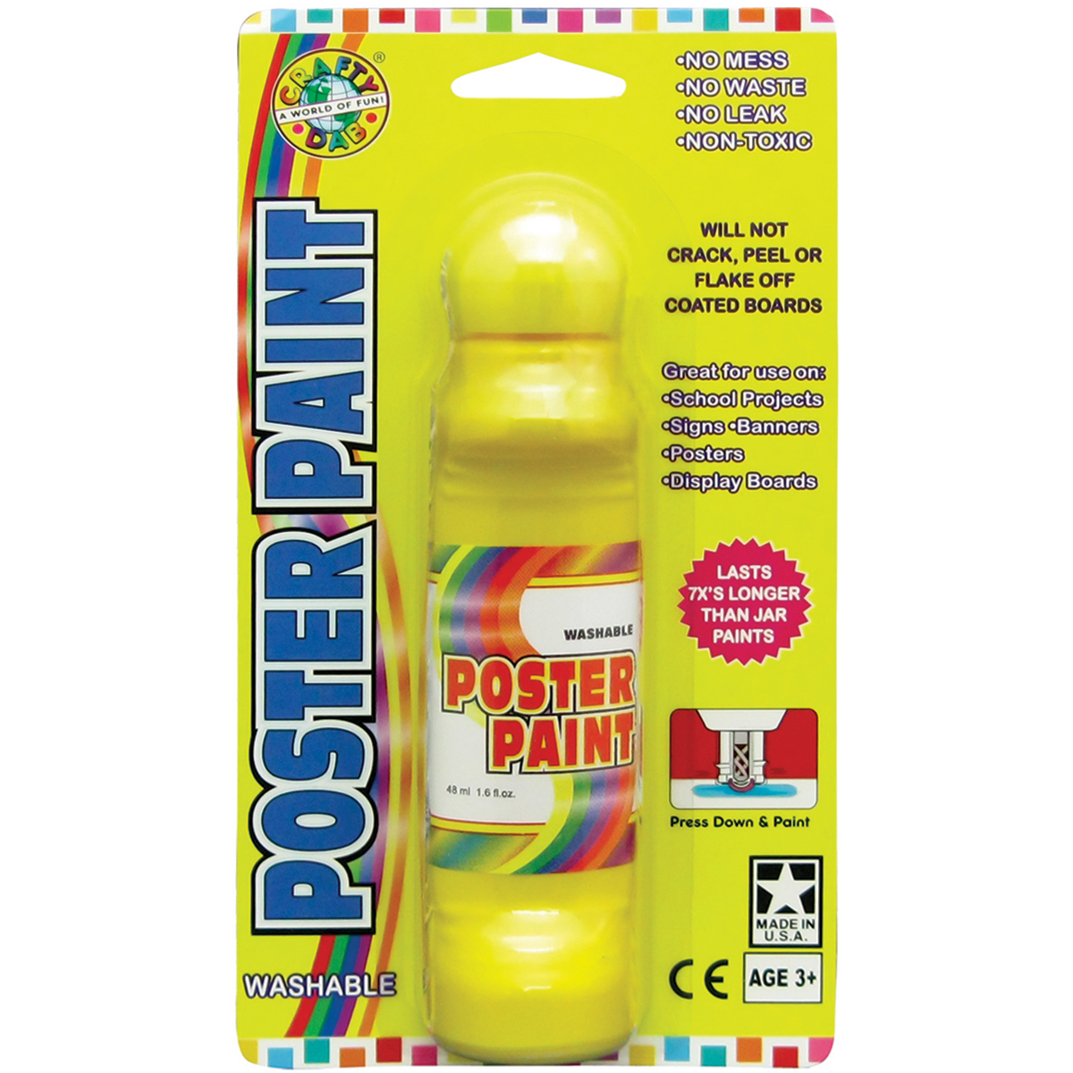 Poster Paint Marker Carded 1.6oz-Yellow