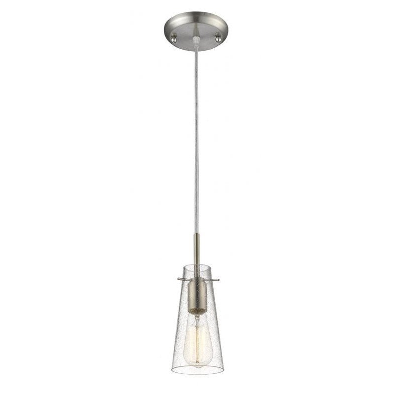 Z-Lite Monte 1 Light Mini Pendant in Brushed Nickel - image 1 of 1