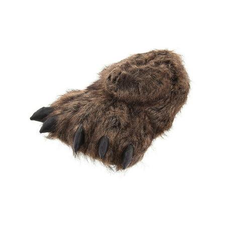 c84251a8de6 Wishpets - Wishpets Brown Grizzly Bear Animal Paw Plush Fuzzy Slippers -  Walmart.com