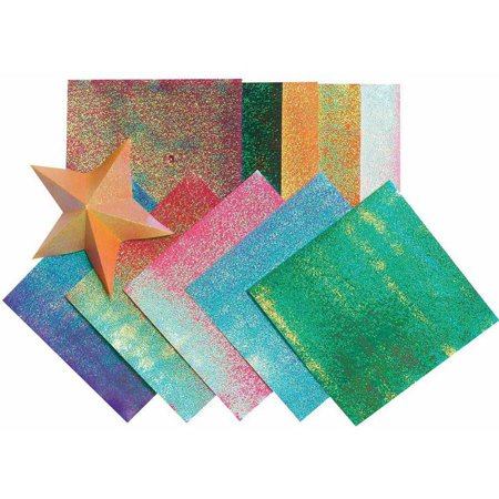 Folia Origami Paper Assortment, 5-1/2 x 5-1/2 in, Assorted Iridescent Color, Pack of 150