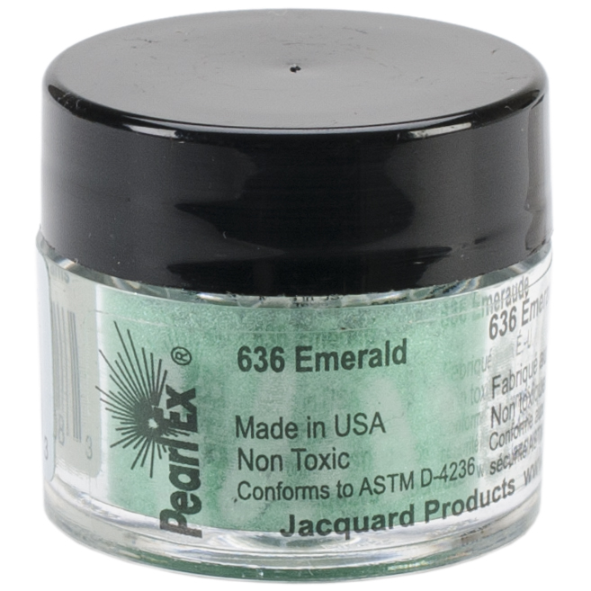 Jacquard Pearl Ex Powdered Pigment 3g-Emerald
