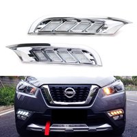 iJDMTOY Direct Fit White/Amber Switchback Sequential Dynamic Blink LED Daytime Running Lights Kit For 2018-up Nissan Kicks