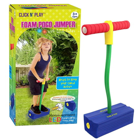 Jumper Flash Bridle (Click n' Play Foam Pogo Jumper - Makes Squeaky Sounds with Flashes LED Lights)
