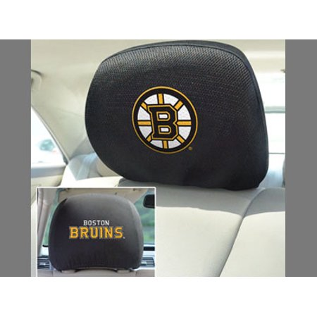 Massachusetts State 14778 NHL Boston Bruins Vehicle Universal Size Car Head Rest Cover 10-In x 13-In Machine Washable Pack of 2