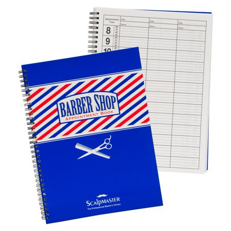 scalpmaster 3 column barber appointment planner organizer spiral note book, sc-9019 6 Column Appointment Book