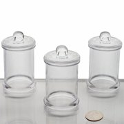 Balsacircle Clear 12 Pcs 6 Oz Plastic Favors Jars With Lids - Wedding Reception Party Buffet Catering Tableware
