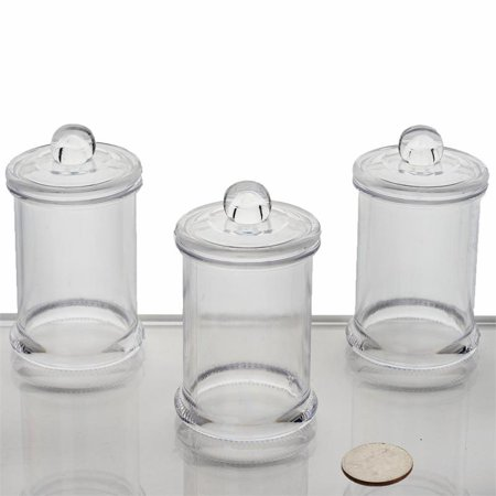 BalsaCircle Clear 12 pcs 6 oz Plastic Favors Jars with Lids - Wedding Reception Party Buffet Catering Tableware](Plastic Party Trays With Lids)