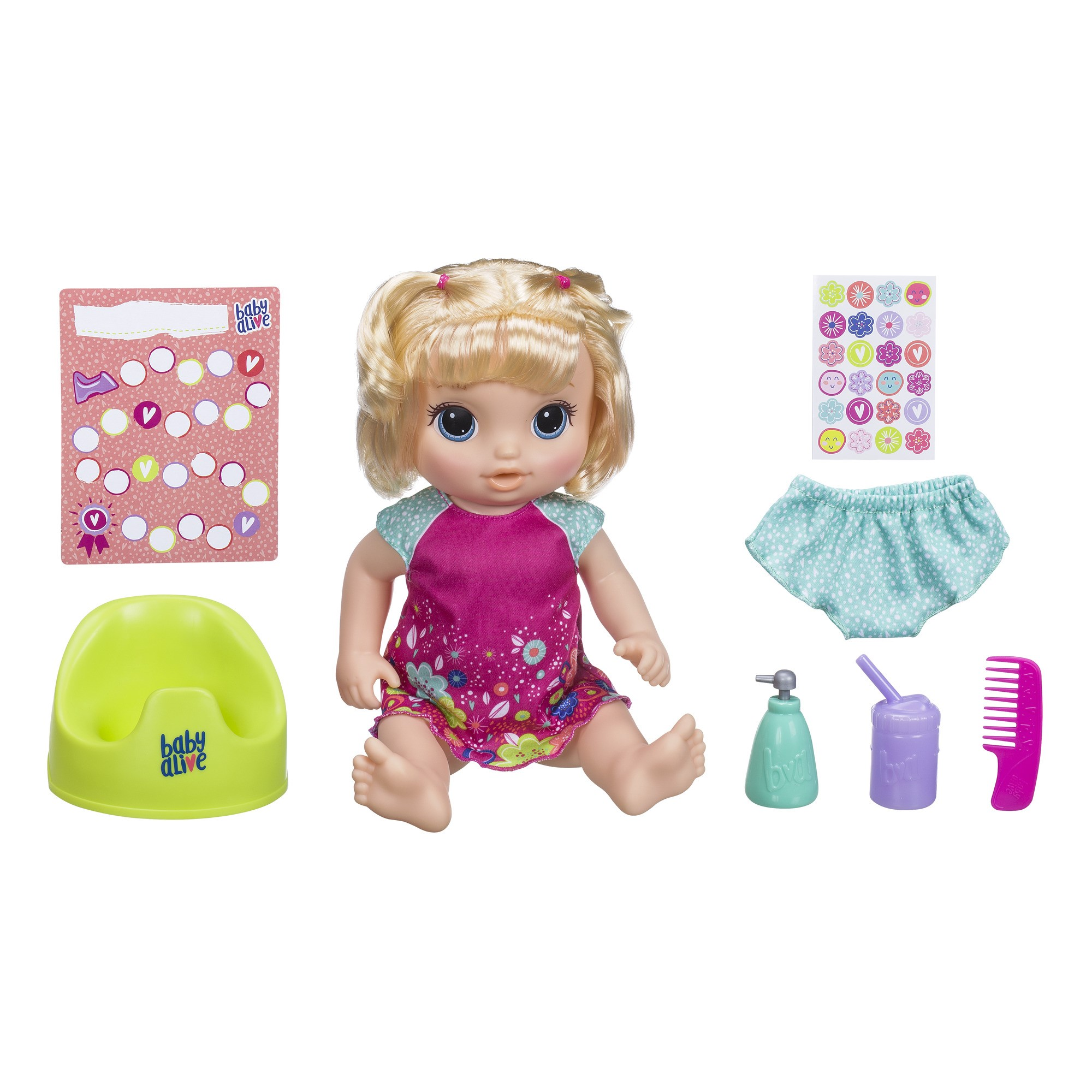 Baby Alive Potty Dance Baby Exclusive Red Curly Hair Speaks Sings Hasbro CHOP