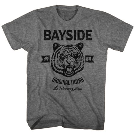 American Classics Saved By The Bell ORIGINAL TIGERS Graphite Heather Adult Unisex T-Shirt